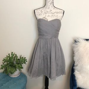 J crew strapless grey dress